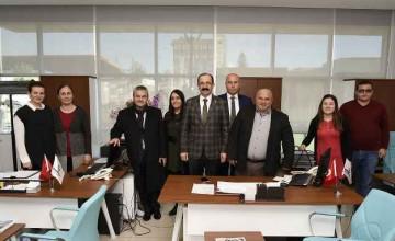 Tekkeköy Belediyesi yeni hizmet binasına heyetten tam not