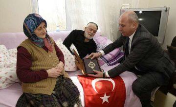 Togar'dan şehit ailelerine ziyaret