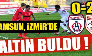 SAMSUN, İZMİR'DE ALTIN BULDU 0-2