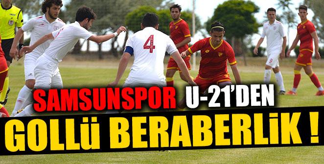 SAMSUNSPOR U-21'DEN GOLLÜ BERABERLİK