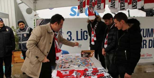 Atakum Belediyespor'dan Samsunspor'a destek