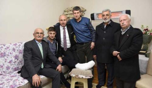 Başkan Togar'dan Kahraman Gaziye ziyaret