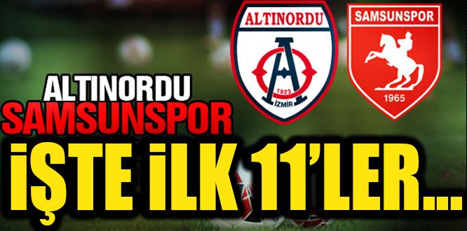 SAMSUNSPOR'UN İLK 11'İ BELLİ OLDU..