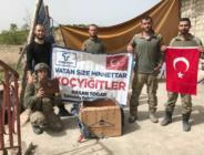 Başkan Togar'ın Kahraman Askerlere Gönderdiği Paketler Afrin'e Ulaştı