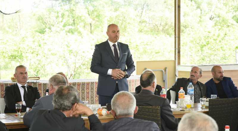 Başkan Togar, muhtarlara çalışmalarını anlattı