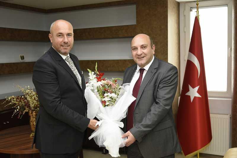 Başkan Togar'dan Tekkeköy Kaymakamına Hayırlı Olsun Ziyareti