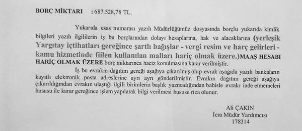 ATAKUM BELEDİYESİ'NE HACİZ ŞOKU
