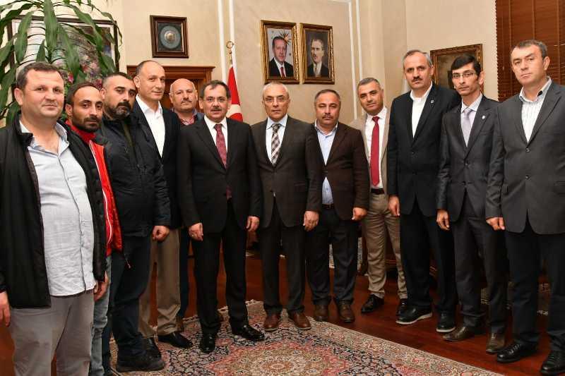 Başkan Demir'e ziyaretçi akını