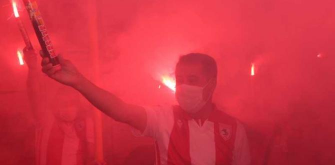 Samsunspor'un doğum günü ve şampiyonluğu için Atakum'da unutulmayacak kutlama