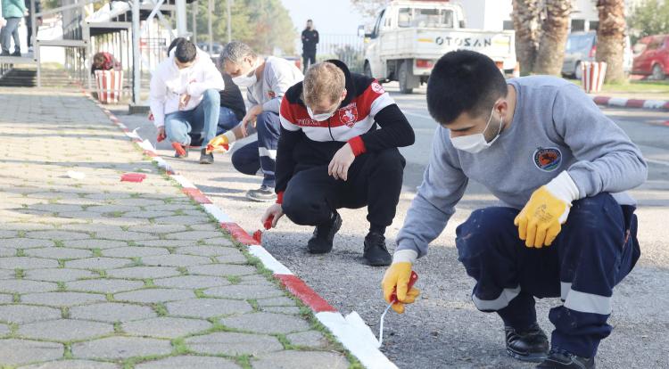 Atakum Belediyesi ve taraftar Samsunspor için omuz omuza