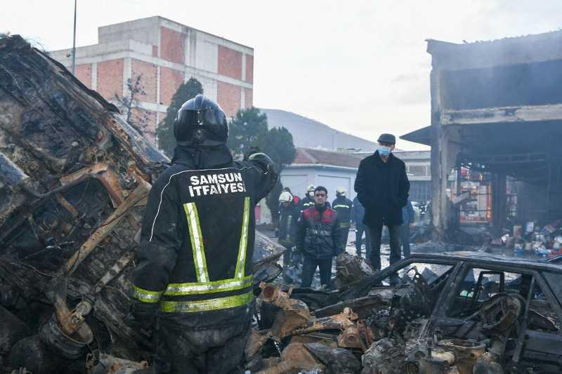 Samsun 19 Mayıs Sanayi Sitesi'nde yangın