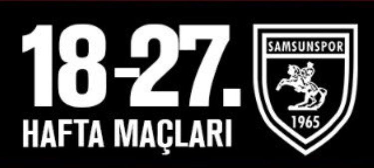 Samsunspor'un 10 maçlık fikstürü açıklandı