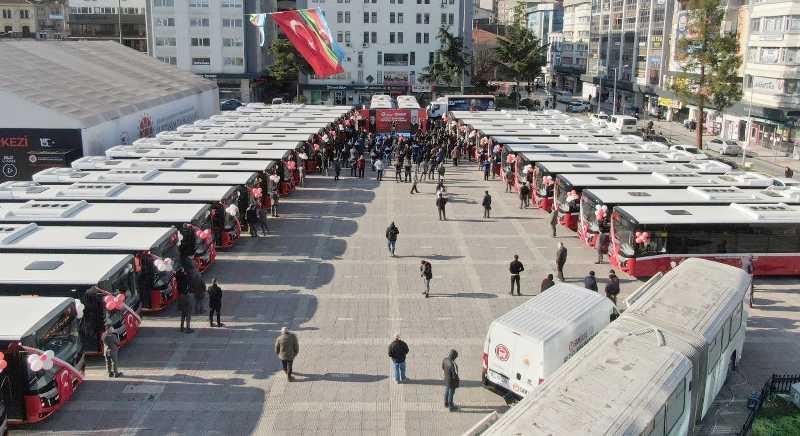 Samsun'da yeni alınan otobüsler sefere başladı