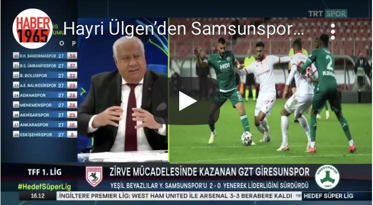 Hayri Ülgen Samsunspor'un Kırmızı Kart Olayını Yorumladı