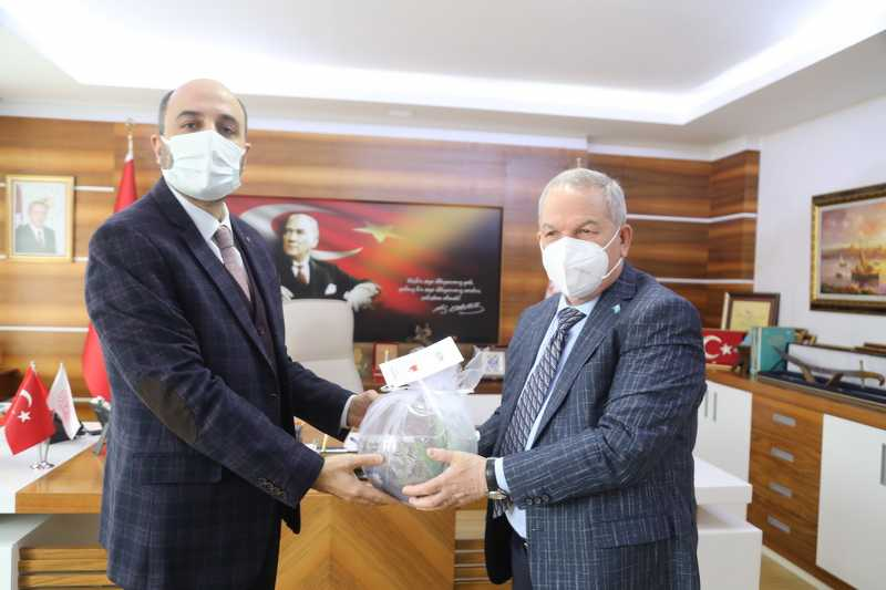 Başkan Demirtaş'tan İl Sağlık Müdürü Oruç'a ziyaret