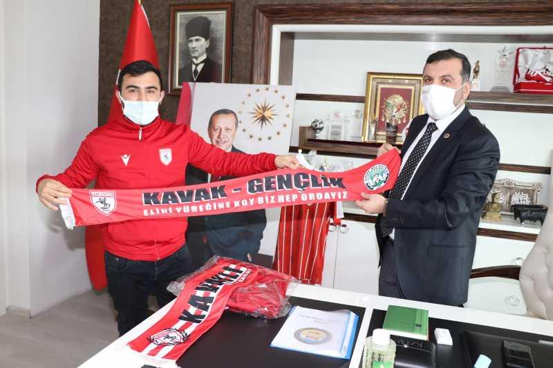 Başkan Sarıcaoğlu'na Şirinler'den ziyaret