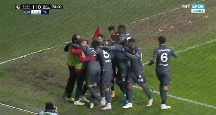 Samsunspor-Balıkesirspor 1-0 İşte Veli Çetin'in Golü