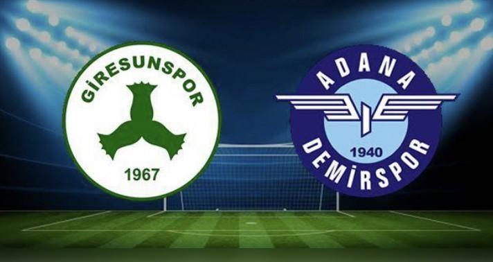 Adana Demirspor-Giresunspor Maçı Canlı İzle