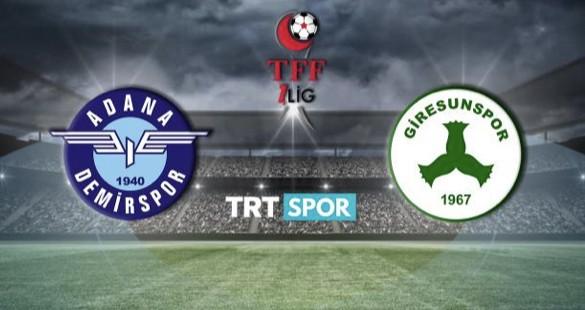 Adana Demirspor-Giresunspor Son Gelişmeler