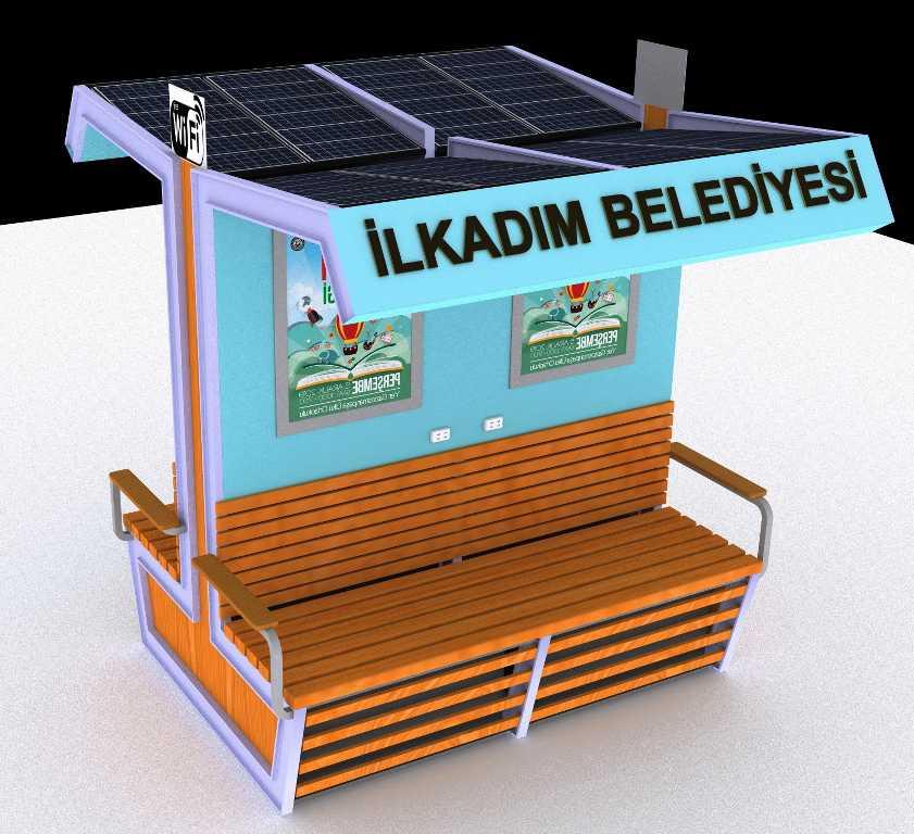 İlkadım'a güneş enerjili bank müjdesi