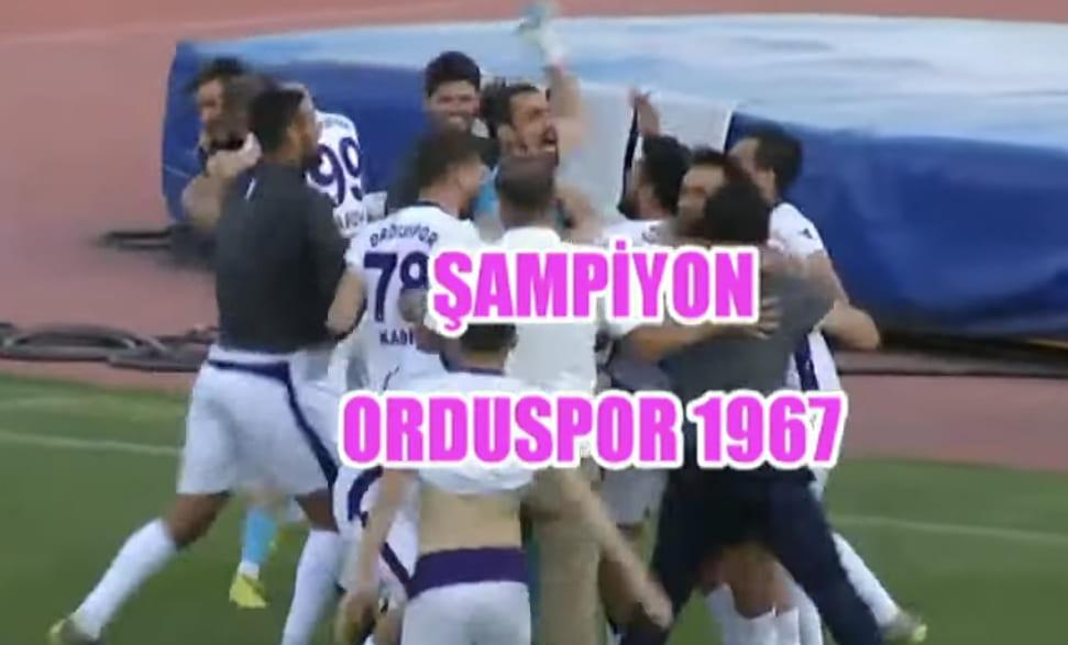 Şampiyon Orduspor 3.Ligde