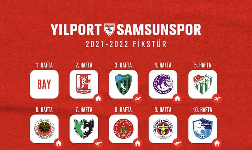İşte Samsunspor'un Yeni Sezon Fikstürü